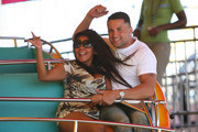Snooki heats up the boardwalk with her new man. The Jersey Shore star, had lunch with her beau and then went for a romantic tour of the shore in the sky ride. Snooki couldn't stop kissing and playing around with him. The happy couple contiued to enjoy each others company as they went on more rides at the amusement park. The love birds were seen walking back to the house together.