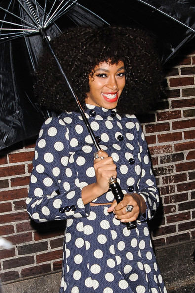 Solange Knowles - Guests Arrive at 'Letterman' Set