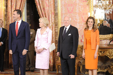 Quentin Bryce Michael Bryce Prince Felipe and Princess Letizia at The Royal Palace in Madrid
