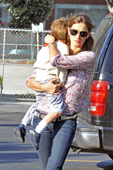 gisele bundchen tom brady and son. Supermodel-mother Gisele Bundchen takes her son Benjamin Brady and Tom Brady#39;s son John with her as she does errands in Santa Monica.