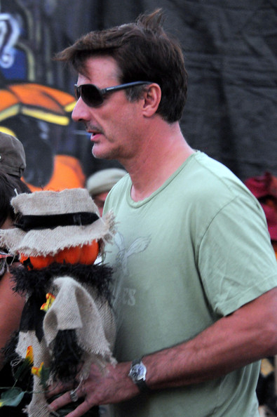Chris Noth and Family at a Pumpkin Patch