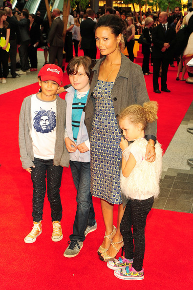 Thandie Newton and family