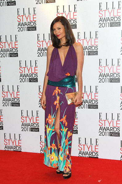 Thandie Newton Thandie Newton poses for photographs on the red carpet of the Elle Style Awards, Grand Connaught Rooms in London.