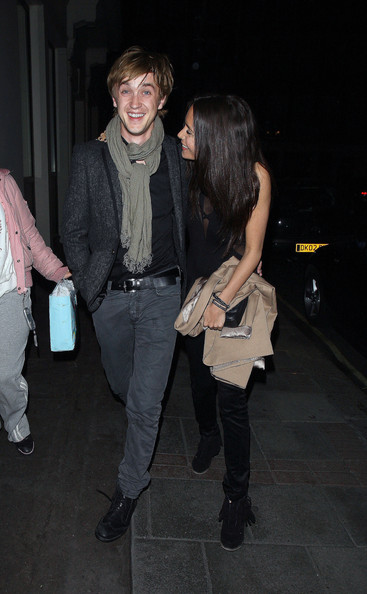 tom felton girlfriend. Tom Felton Leaves Nobu with