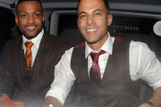 Marvin Humes and JB Gill from JLS is spotted at the Justin Timberlake concert after the Brit awards held at the Forum in Kentish Town, London.