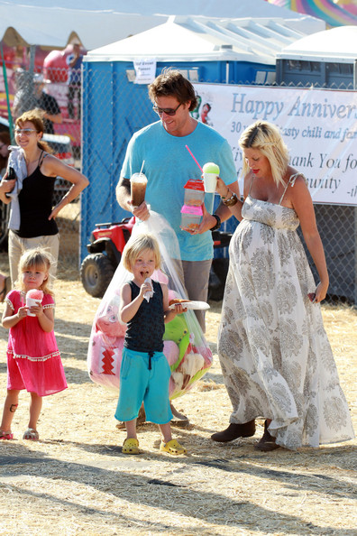 Tori Spelling at the Malibu Fair  []