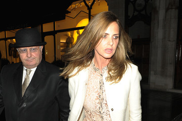 Trinny Woodall Charles Saatchi and Trinny Woodall in London