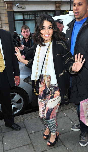 "Vanessa Hudgens Vanessa Hudgens arriving at Radio One studios in London in good spirits to promote her new film ""Sucker Punch""."