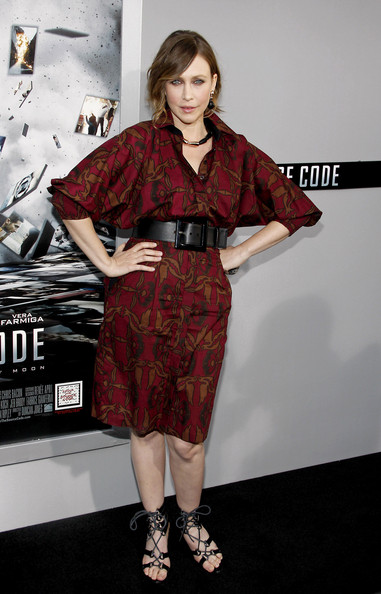 "Vera Farmiga poses for photographs at the Los Angeles premiere of her new film ""Source Code"", held at the Arclight Cinemas Los Angeles."