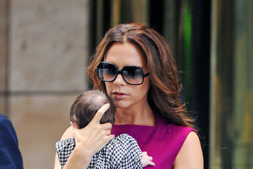 Harper Beckham Victoria Beckham Leaves the Plaza Hotel in NYC