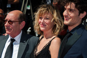 Louis Garrel and Valeria Bruni Tedeschi attend the Premiere of 'Un Chateau En Italie' during the 66th Annual Cannes Film Festival at the Palais des Festivals in Cannes.