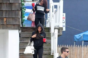 Sammi Giancola Deena Nicole Cortese The 'Jersey Shore' Crew Out and About