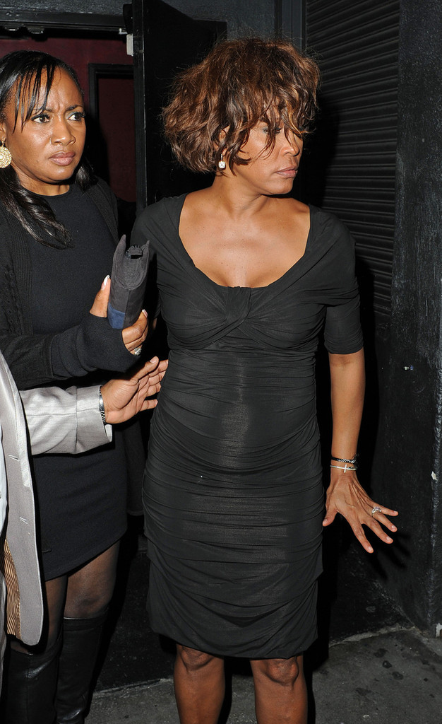 whitney houston out two nights before her death zimbio