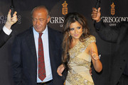 """The X-Factor"" judge Cheryl Cole and Fawaz Gruosi at the ""Promise: De Grisogono By Cheryl Cole"" press launch in Nobu restaurant, London."