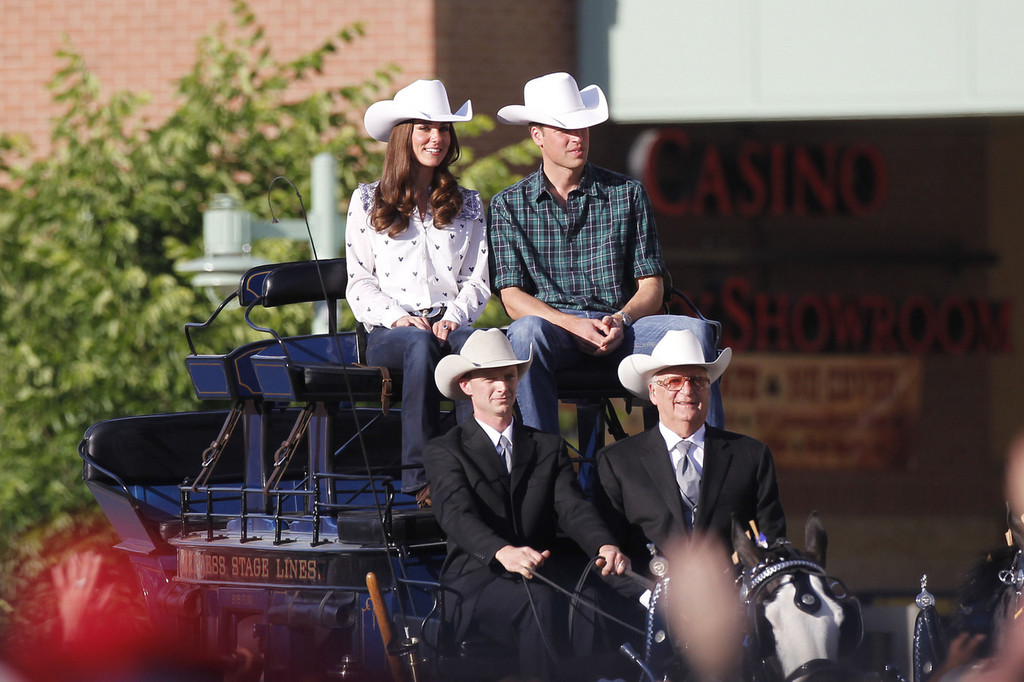 Prince William And Kate Middleton At The Calgary Stampede