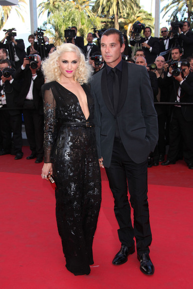 "Gwen Stefani and Gavin Rossdale arrive before the screening of ""The Tree of Life"", held during the 64th Annual Cannes Film Festival."