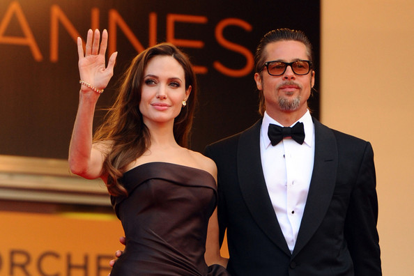 "Brad Pitt and Angelina Jolie arrive before the screening of ""The Tree of Life"", held during the 64th Annual Cannes Film Festival."