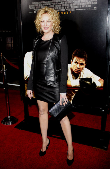 "A leather clad Virginia Madsen on the red carpet at the Los Angeles premiere of ""The Fighter"" held at  Grauman's Chinese Theater, Los Angeles."