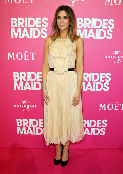 "Kristen Wiig the red carpet for the premiere of hit comedy ""Bridesmaids"" in Sydney, Australia."