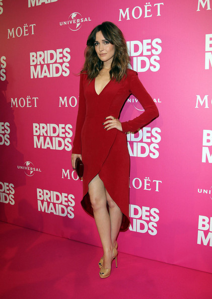 "Rose Byrne hits the red carpet for the premiere of hit comedy ""Bridesmaids"" in Sydney, Australia."