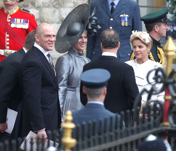 Mike Tindall and Zara Philips after the Royal Wedding of Prince William and Kate Middleton held at Westminster Abbey.  The Royal couple will be known after the wedding as the Duke and Duchess of Cambridge.