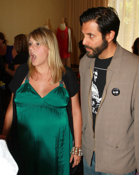 The heavily-pregnant Jodie Sweetin checks out a pre-Emmy's gifting suite ...