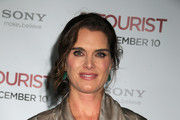 "Brooke Shields on the red carpet at the world premiere of ""The Tourist"" at the Ziegfield Theater in New York."