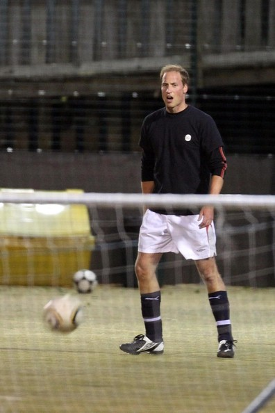 Prince William Plays Football with Friends
