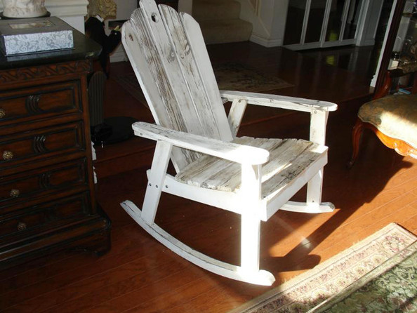 Wooden Rocking Chairs Wooden Rocking Chair With an