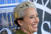 Emma Thompson Bobby Pinned Updo