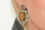 Carrie Underwood Dangling Gemstone Earrings
