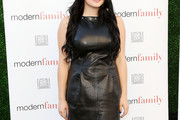 Ariel Winter Leather Dress