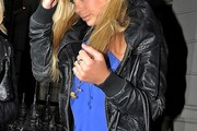 Chelsy Davy Leather Jacket