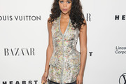 Laura Harrier Fitted Blouse
