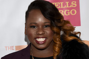 Alex Newell Side Swept Curls