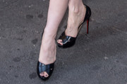 Jessica Chastain Peep Toe Pumps
