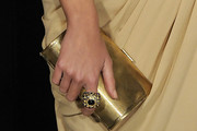 Clara Alonso Metallic Clutch