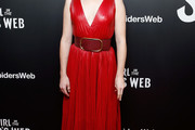 Claire Foy Leather Dress