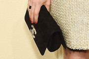 Dakota Johnson Suede Clutch