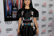 Lana Condor Embroidered Dress
