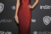Emmanuelle Chriqui Halter Dress