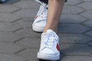 Kaley Cuoco Leather Sneakers