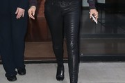 Yolanda Hadid Leather Pants