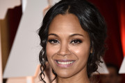 Zoe Saldana Pinned Up Ringlets