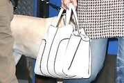 Katie Holmes Leather Tote