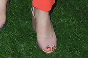 Jane Levy Peep Toe Pumps