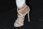 Larsa Pippen Strappy Sandals