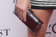 Natasha Poly Metallic Clutch