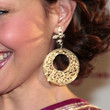 Ashley Judd Gold Dangle Earrings