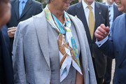 Christine Lagarde Patterned Scarf